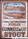 Guinness Dublin Mini Blechschild