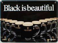 Guinness Black is beautiful Mini Blechschild