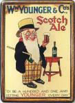 WM Younger & Co's Scotch Ale Mini Blechschild