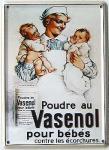 Vasenol pour bébés Mini Blechschild