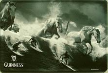 Guinness Pferde Blechschild