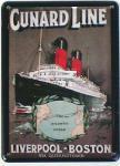 Cunard Line Liverpool Boston Mini-Blechschild