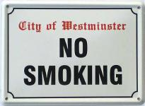 No Smoking Mini Blechschild