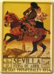 Sevilla Pferd Mini Blechschild