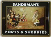 Sandeman's Ports & Sherries Mini-Blechschild