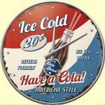 Have a Cola! Wanduhr (Echtglas)