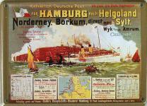 Hamburg Helgoland Sylt Mini Blechschild
