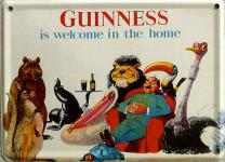 Guinness welcome in the home Mini Blechschild