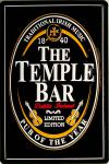The Temple Bar schwarz No.1 Blechschild