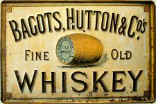 Bagots, Hutton & Co Whiskey Blechschild