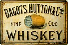Bagots, Hutton & Co Whiskey Blechschild