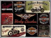 Magnet-Set Harley Davidson Bikes