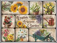 Magnet-Set English Flower Garden