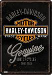 Blechpostkarte Harley-Davidson Genuine