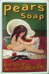 Pears Soap Mädchen mit Katze Blechschild (Stahl)