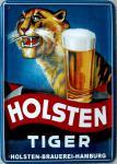 Blechpostkarte Holsten-Bier Tiger