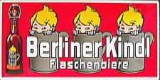 Berliner Kindl Flaschenbiere rot Blechschild