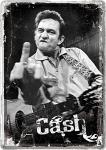 Blechpostkarte Johnny Cash