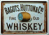 Bagots Hutton Whiskey Mini Blechschild