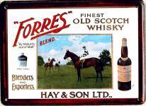 Forres - Old Irish Whisky Mini Blechschild