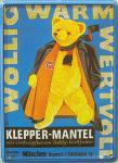 Klepper-Mantel Teddy Mini Blechschild