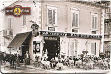 Cafe Espresso New York sw Blechschild