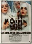 Afri Cola 1968 im Rausch Mini Blechschild