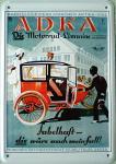 Blechpostkarte ADKA die Motorrad Limousine
