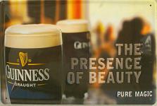 Guinness The presence of beauty Blechschild