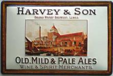 Harvey & Son Old, Mild & Pale Ales Blechschild