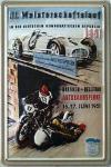 Meisterschaftslauf für Motorräder und Wagen Blechschild