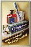 Chlorodont morgens und abends Blechschild