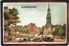 Hamburg Schaarmarkt am Michel Blechschild