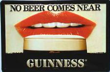 Guinness no Beer (Mund) Blechschild