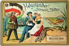 Helgoländer Strand-Bitter Blechschild