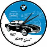 BMW - 507 Wanduhr (Echtglas)