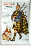 Dewars Whisky Dudelsack Blechschild