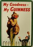 Blechpostkarte Guinness Bär