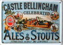 Castle Bellingham Ale and Stouts Mini Blechschild