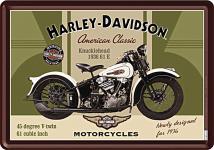 Blechpostkarte Harley-Davidson Knucklehead