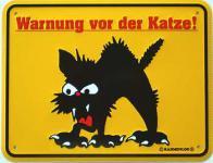 Funschild Warnung vor der Katze