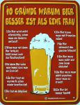 Funschild 10 Gründe warum Bier...