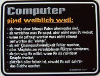 Funschild Computer sind weiblich