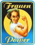 Funschild Frauenpower (Blech)