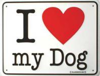 Funschild I love my Dog