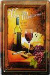 Vino Mediterrano No.3 Blechschild