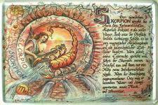 Sternzeichen Skorpion Blechschild