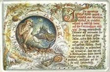 Sternzeichen Jungfrau Blechschild
