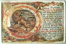 Sternzeichen Löwe Blechschild