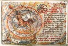 Sternzeichen Schütze Blechschild